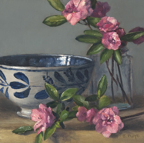 Still Life with Azaleas and Bowl