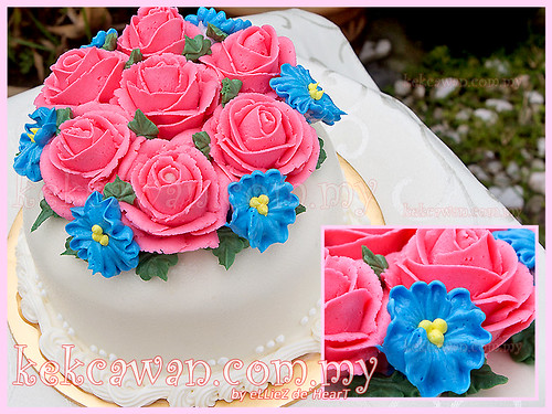 Steam Buttercream Hantaran Cake