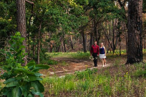 Amanda and Gabe at Bastrop State Park