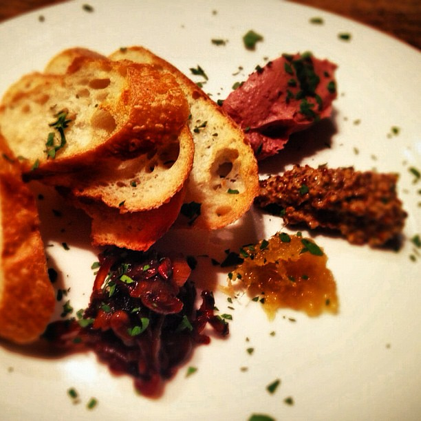 Liver pate with caramelized shallot onions, ginger marmala… | Flickr ...