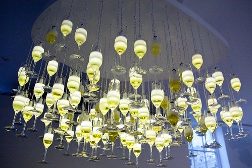 Champagne flute chandelier