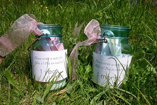 wedding note jars