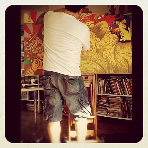 Todo pimpão, pintando... by Fragadesenhos