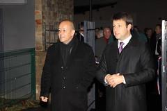 Le Drian et Chesnais-Girard à Liffré Inauguration Kanata 7 nov 2011