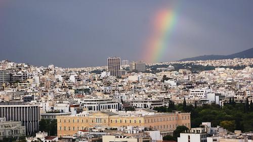Rainbow over Athens