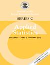 Journal of the Royal Statistical Society - Series C: Applied Statistics