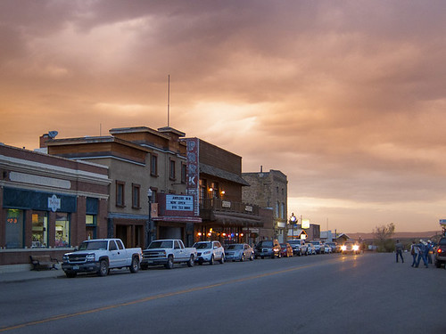 light sunset usa evening town mainstreet colorado dramatic western walden smalltown oldwest