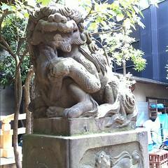 狛犬探訪 鬼王神社 阿吽とも子連れ