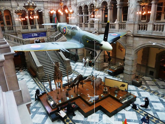 Inside Kelvingrove Art Gallery & Museum, Glasgow, Scotland