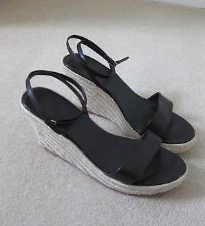 LK Bennett dark brown wedges