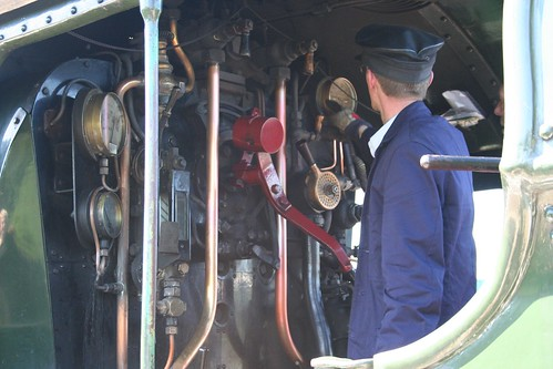 Inside the locomotive