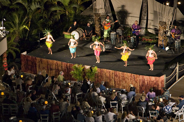 Luau from our balcony