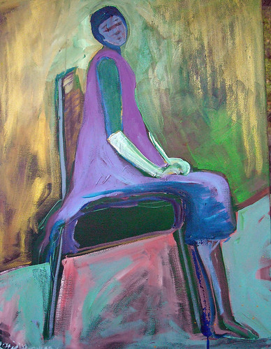 solitude  acrylic and oil on canvas by Lorie McCown