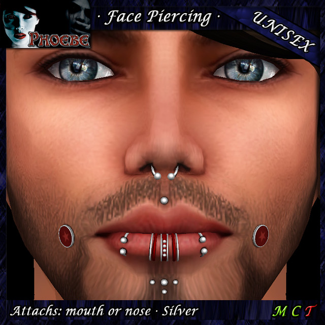 *P* Unisex Facial Piercings ~Serie Z1~ MOH Gift