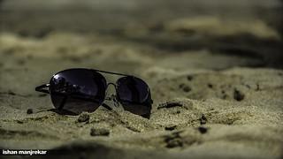 Зображення Kashid Beach. beach sunglasses canon eos sand 550d
