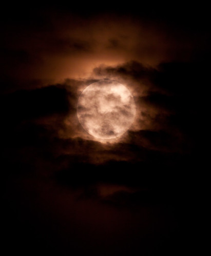 Cloudy Moon 040612 by Mick Hyde