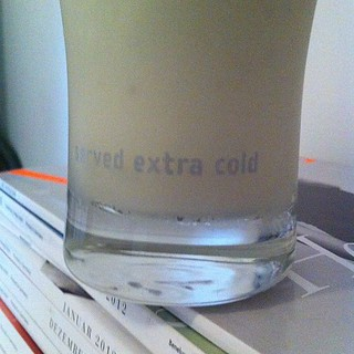 Home-made extra-cold banana milk!