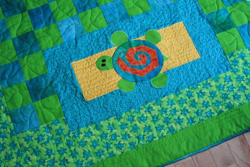 Turtle quilt - applique corner