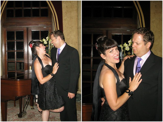 Bridal Styles Customer Jessica and Her husband Andrew playing around!