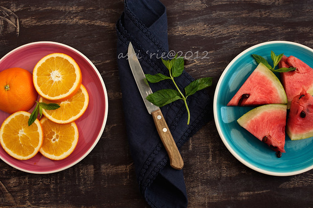 Orange and Water melon - Creative Still Life Photography