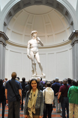 Statue of David in Galleria Accademia in Florence
