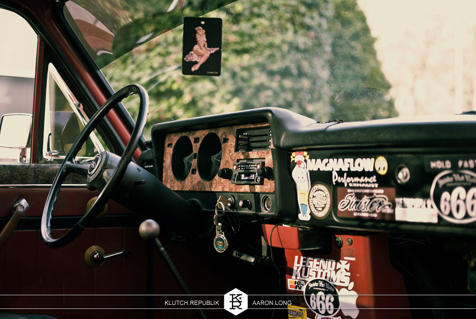 1979 ford courier on airride suspension, low, slammed, seen on klutch republik