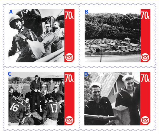 70th Anniversary Commemoration Stamps Of Us Forces In New Zealand