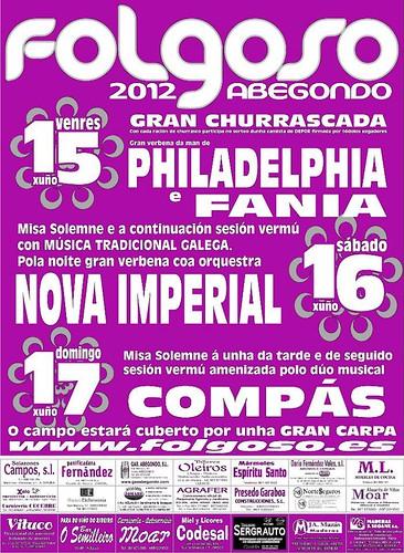 Abegondo 2012 - Festas de Folgoso - cartel completo