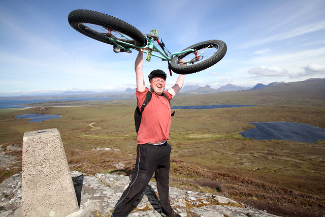 Mike and the Pugsley on top of Meall an Fheadain