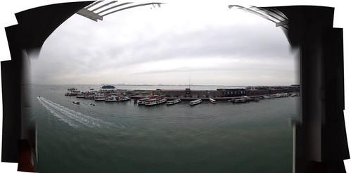 Panorama: Isla Tronchetto from Stazione Marittima