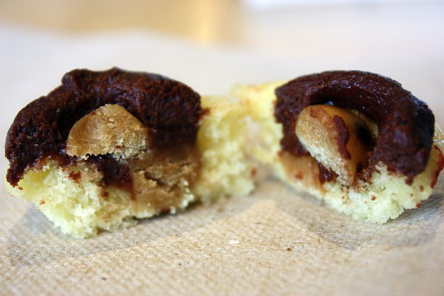 Miniature Cookie Dough Cupcake innards