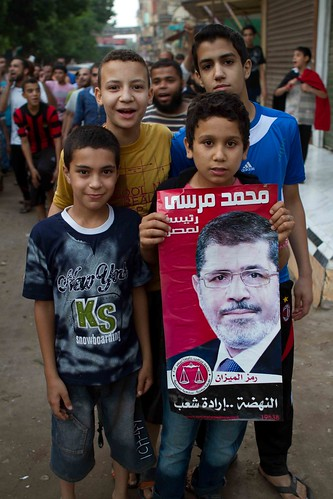 Hawamdia -small town in Giza- Celebrates Morsi
