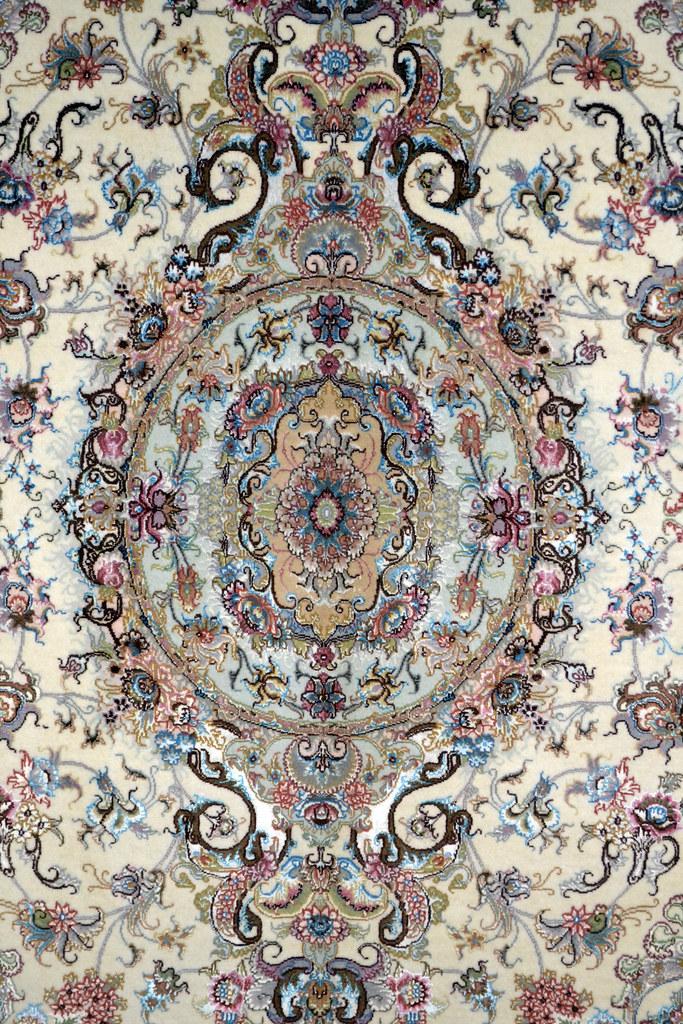 Silk Tabriz Persian Carpet - Carpet Vidalondon