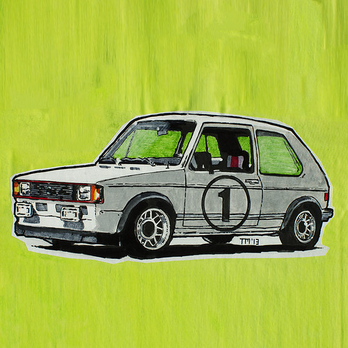 Cartoonish VW Golf/Rabbit Mk1 GTI