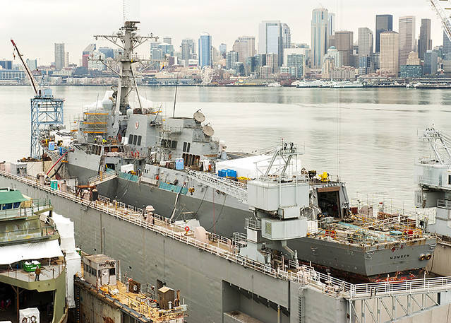 SEATTLE - The guided-missile destroyer USS Momsen (DDG 92) is in Vigor Shipyards, Seattle, Wa., during a scheduled six-month dry dock availability to conduct critical repairs and maintenance.