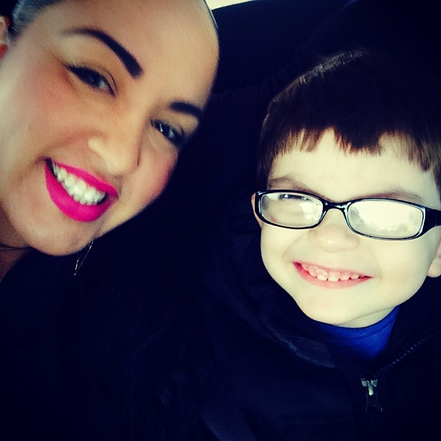 My white boy and I. Running some errands today! I haven't had a rest day yet .
