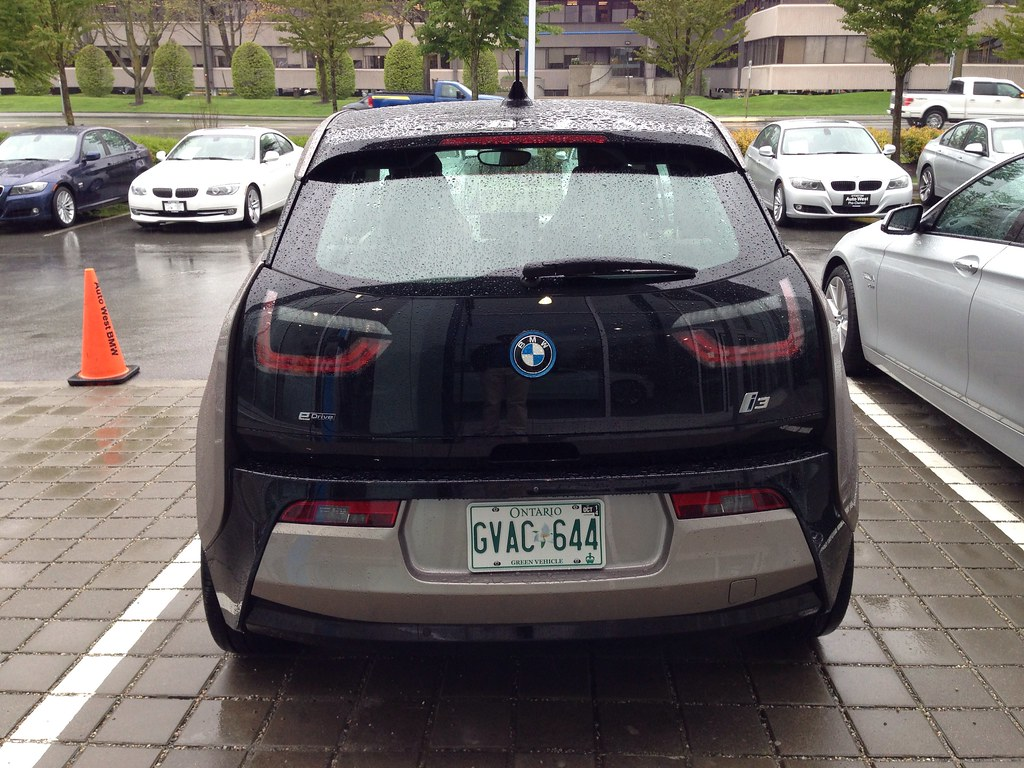 Rear of the BMW i3