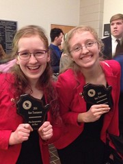 Erin and Samantha at State Forensics