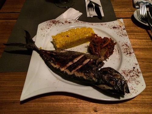 Bocas del Toro: poisson entier frais du jour dans un restaurant français