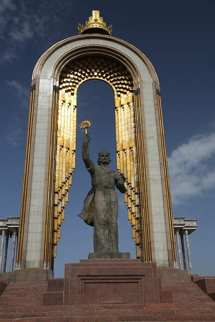 Ismoil Somoni monument
