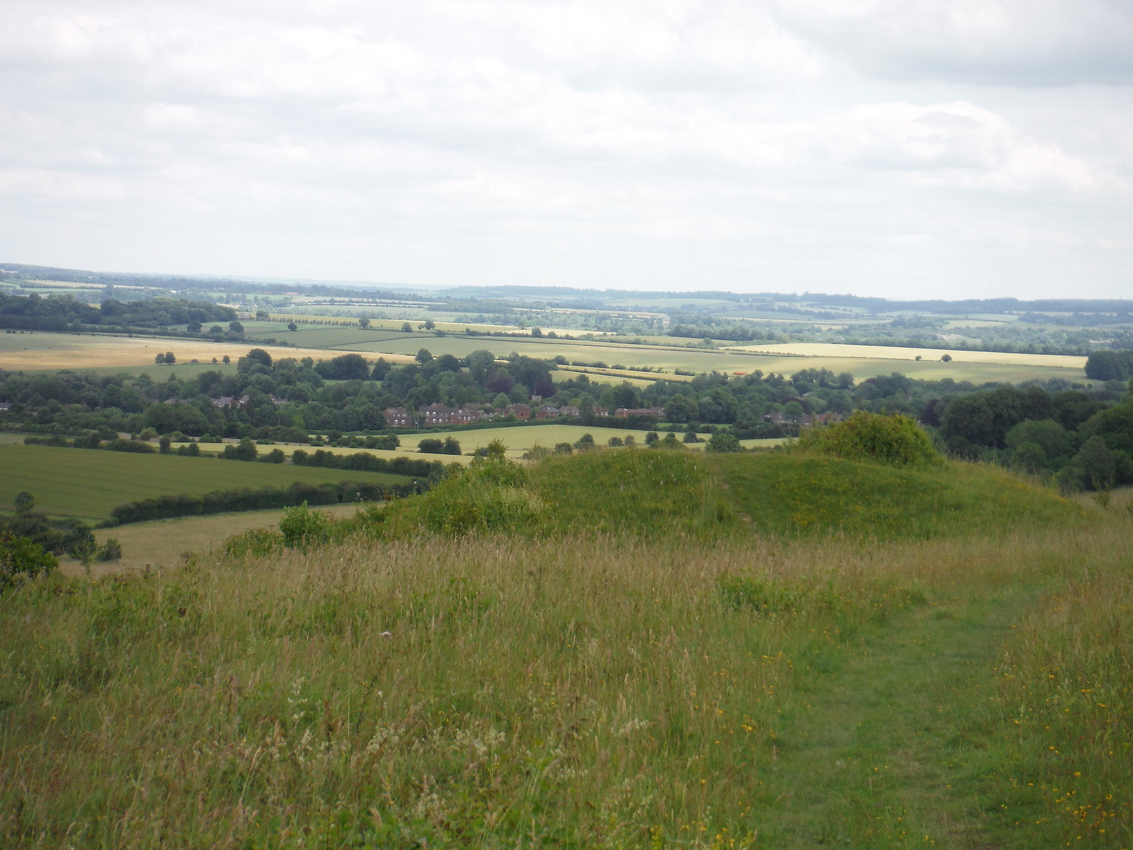View from Broughton Down towards the Wallops SWC Walk 265 - Dean to Mottisfont & Dunbridge