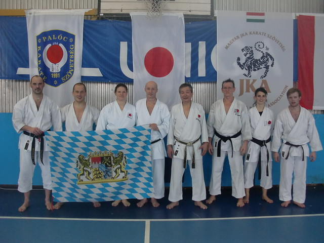 poinger Karateka beim JKA-Gasshuku in Ungarn