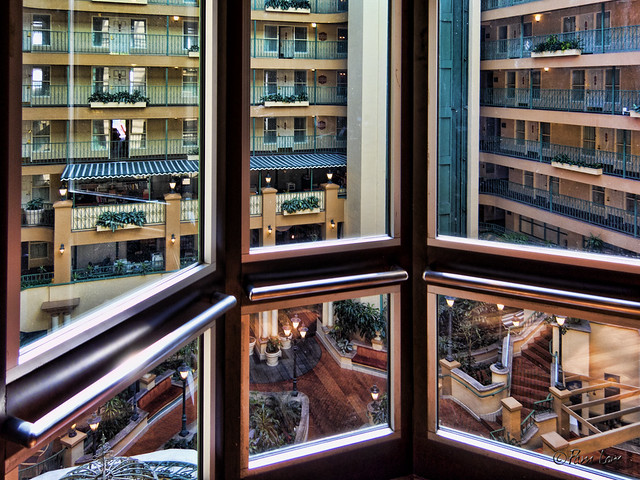 Embassy Suites elevator view