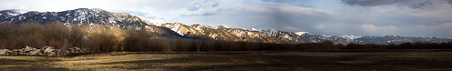 The Greys Panorama From Freedom Wyoming