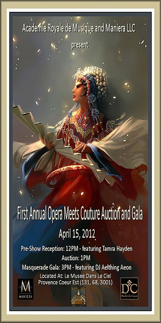 First Annual Opera Meets Couture Auction and Gala