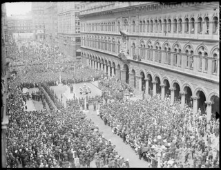 ANZAC Day parade, Martin Place, Sydney, ca. 1930