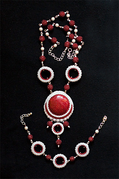 "Set of jewelry ""Red Sea"""
