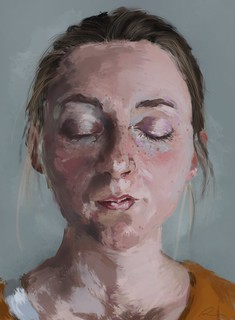Freckles (2012) - study of flesh under natural lighting
