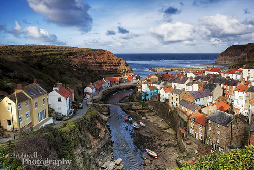 A View Of Staithes by Dave Brightwell