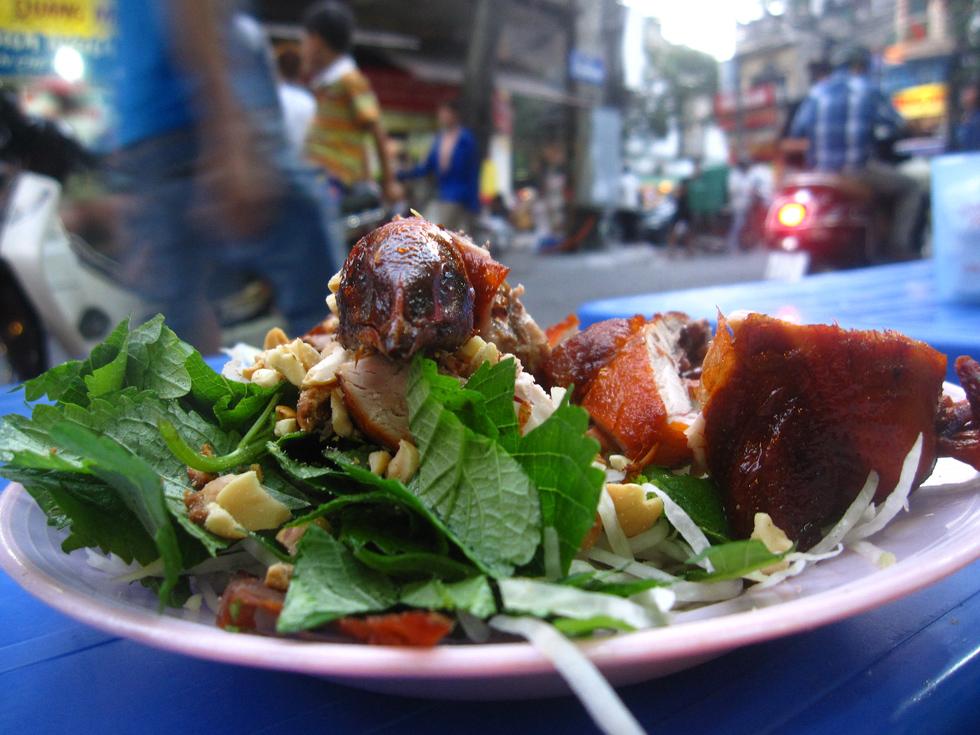 Vietnamese street food salad